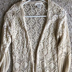Sans Souci | Crochet knit duster cardigan